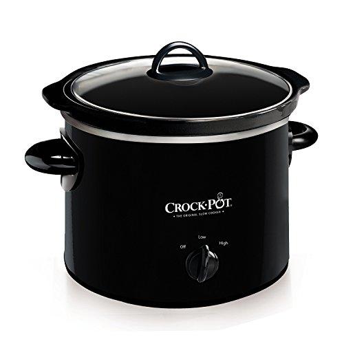 Crock-Pot 2-QT Round Manual Slow Cooker, Black (SCR200-B)