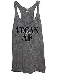 Vegan AF Soft Tri-Blend Women's Heather Gray Racerback Tank Top