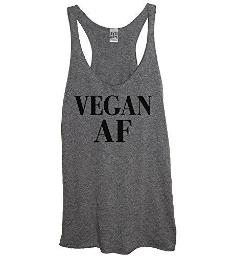 Vegan AF Soft Tri-Blend Women's Heather Gray Racerback Tank Top (2X) (Best Pilates Clothing Brands)