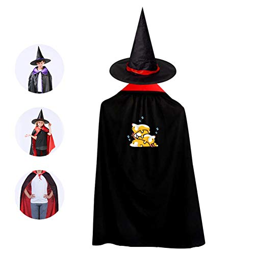 69PF-1 Halloween Cape Matching Witch Hat Sleeping Corgi