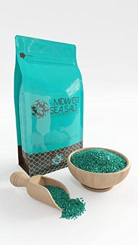 Flu Mineral Bath Salt - Cold & Sinus Therapy Mediterranean Sea Bath Salt Soak - 5lb (Bulk) - Coarse Grain