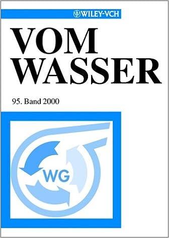 Vom Wasser 95 Band 2000 (Vom Wasser (VCH) *)