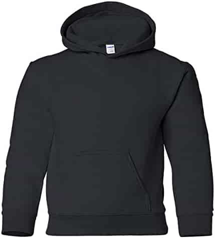 Gildan Heavy Blend Youth 8 oz., 50/50 Hood, XS, BLACK
