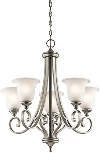 Kichler 43156NI Chandelier Lighting, Brushed Nickel 5-Light (28