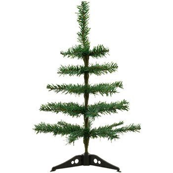 Holiday Office Classroom Table-Top Artificial Christmas Trees, 18 in. by Hat