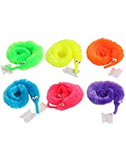 FairOnly 100 pcs Magic Caterpillar Worm Hippocampus Worm Twtisty Worm Twisted Worm Toy - for Child Gift