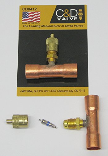 C&D Valve CD8412 - Copper Access Tee, 1/2
