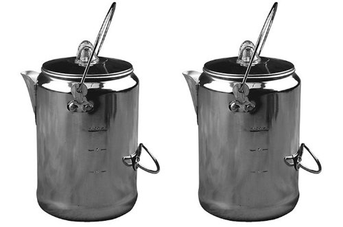 (2) COLEMAN Camping 9-Cup Rust Resistant Aluminum Coffee Pot Maker Percolators