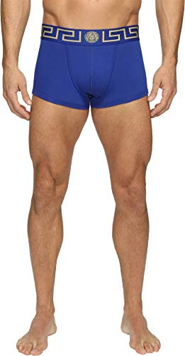 Versace Men's Iconic Low Rise Trunks Blue/Gold 7