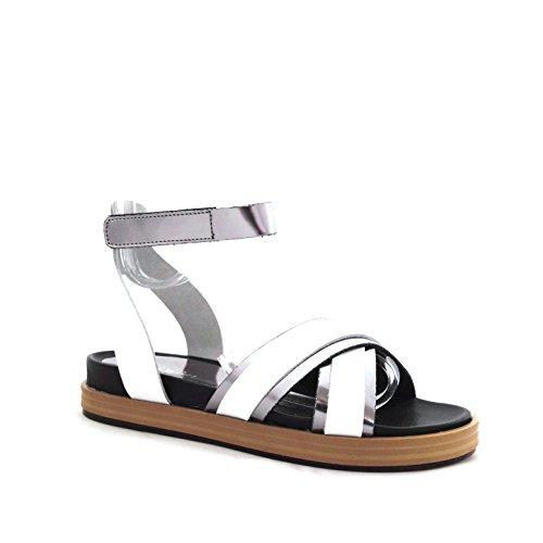 Soldini  9801, Sandales pour femme blanc Bianco