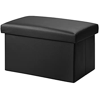 Wonderful Inoutdoorkit FSL01 Foldable Leather Storage Ottoman Bench Footrest Stool, Coffee  Table Cube For Home,