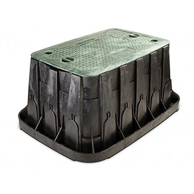 Rainbird Super Jumbo Valve Box with Rectangular Body, Lid and 2 Locks, Green