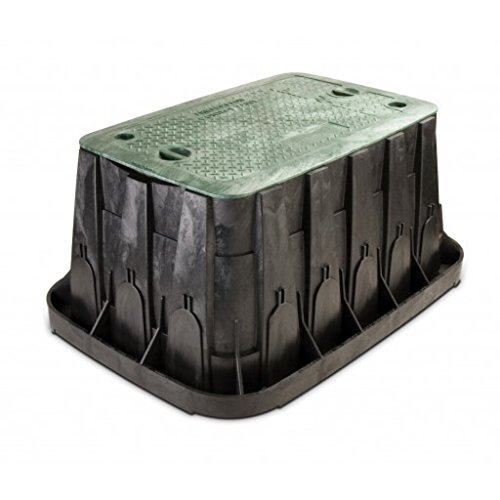 Rainbird Super Jumbo Valve Box with Rectangular Body, Lid and 2 Locks, Green (Water Valve Covers)