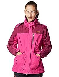 Women's 3-in-1 Waterproof Jacket with Linner Outdoor Sporting Windproof Coat