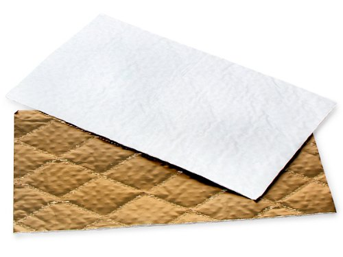 Candy Pads 9 - 5/8x5 - 5/8'' Gold 1 Lb. 3 Ply (200 pads) - WRAPS-SLB1PAD
