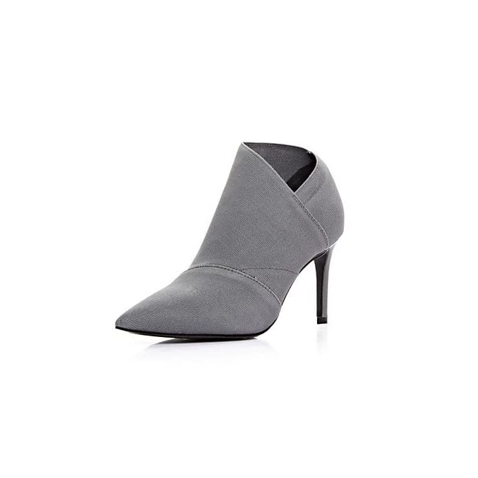 Lvyuan ggx Da Donna Tacchi Decolleté Pu poliuretano Autunno Casual A Stiletto Grigio 7 5 9 5 Cm Gray Us5 Eu35 Uk3 Cn34