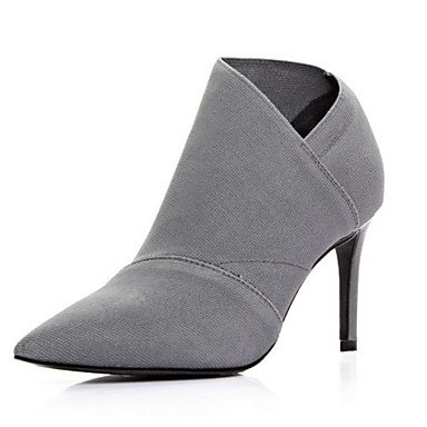 LvYuan-ggx Damen High Heels Pumps PU PU PU Herbst Normal Pumps Stöckelabsatz Grau 7,5 - 9,5 cm c00a68