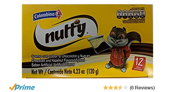 Amazon.com : Nucita Colombina Nutty 12 Unit Pack 5.9 Oz (168 Grs) 12 Unidades : Chocolate Assortments And Samplers : Grocery & Gourmet Food