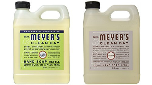Mrs. Meyers Liquid Hand Soap Lavender & Lemon Verbena, 33 Oz Refill (Each) ()