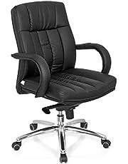 hjh OFFICE 724250 chefsfåtölj XXL G 100 konstläder svart snurrstol tung laststol 150 kg skrivbordsstol hjh oFFICE