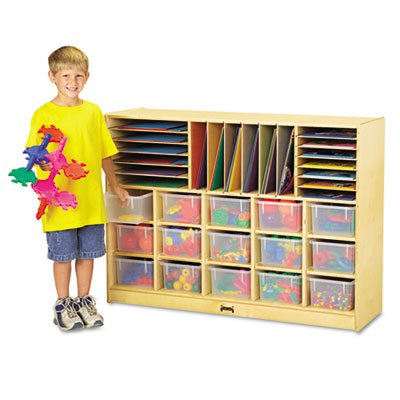 Jonti-Craft 0415JC Sectional Cubbie Mobile Unit Without Trays