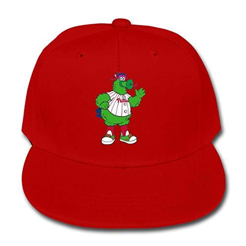 Philadelphia Baseball Fan Phillie Phanatic Kids Baseball Cap Washed Solid Sun Hat for Children Red ()