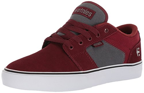 Etnies Barge LS Skate Shoe Red/Grey
