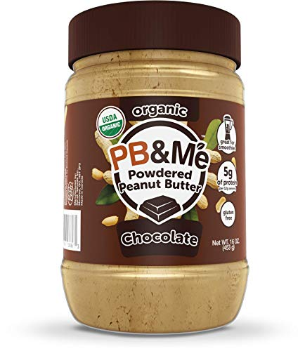 PB&Me USDA Organic Powdered Peanut Butter, Keto Snack, Gluten Free, Plant Protein, Chocolate, 16 Ounce