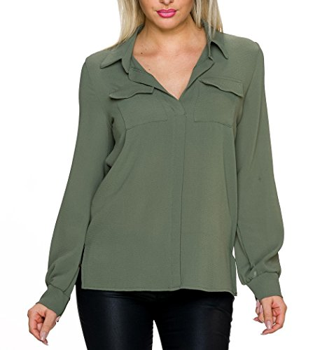 Mujer Verde Oliva Para Camisas Unbekannt qOWR7pUBn