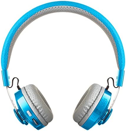 LilGadgets Untangled PRO Kids Premium Wireless Bluetooth Headphones with SharePort and Microphone (Children) – Blue