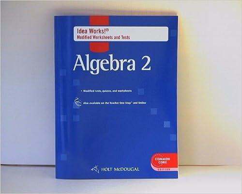 Amazon.com: Holt McDougal Algebra 2: Common Core IDEA Works ...