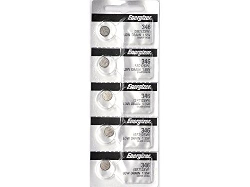 346Tz 0% Mercury Low Drain Energizer Watch Battery 5 Pack