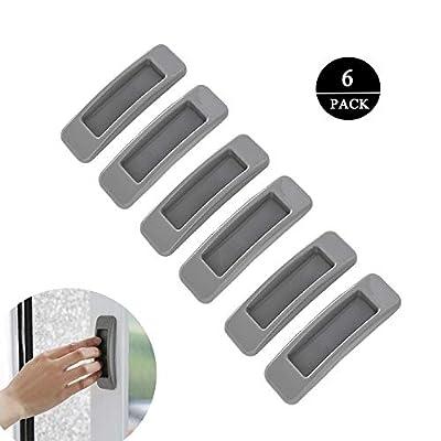Meixinggu 6pcs Multipurpose Self-Stick Instant Cabinet Drawer Handle Helper Door Window Handle Sticker for Kitchen Bathroom Cupboards Drawers Dressers Cabinets (Grey): Home & Kitchen