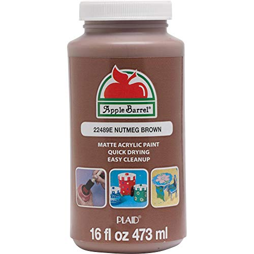 Apple Barrel 22489E Paint Acrylic, 16 oz, Nutmeg Brown
