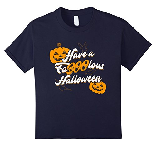Kids Have A Faboolous Halloween T-Shirt 12 Navy