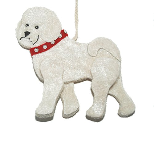 Bichon Dog Recycled Wool Ornament