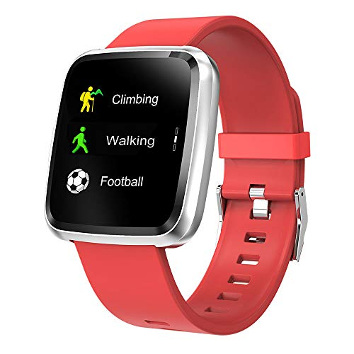 Xiaojun Smart Watch Square IP68 Waterproof Fitness Tracker Sport Watch with Heart Rate Sleep and Chick, for iOS/Android,E (Ios Ui Best Practices)