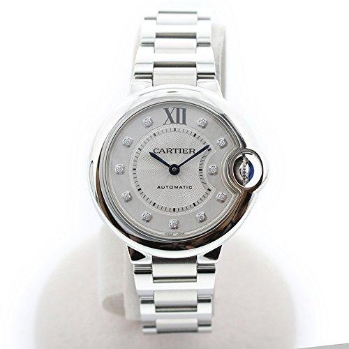 [カルティエ]Cartier 腕時計 バロンブルー 33mm レディース ダイヤ WE902074 レディース 中古 B07DGRQ39J
