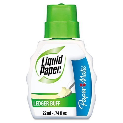 Paper Mate Correction Fluid, 22ml, Ledger Buff (PAP5660115) (12-Pack) by Paper Mate (Image #1)