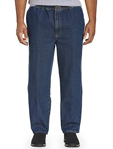 Harbor Bay by DXL Big and Tall Full Elastic-Waist Jeans - Updated Fit ()