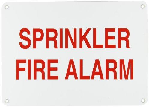 (Brady 51549 Aluminum Sprinkler Control Signs, 10