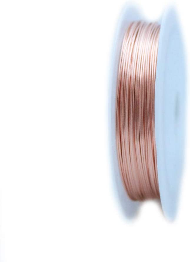 1 Ounce Round Dead Soft Solid Red Brass Wire 10 Gauge 2 Ft from Craft Wire