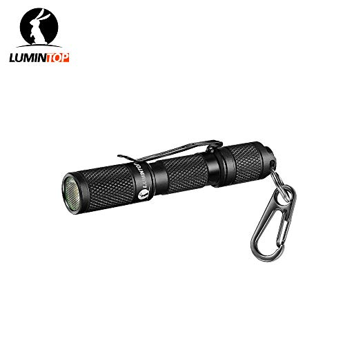 LUMINTOP TOOL AAA Mini EDC Flashlight, Pocket-Sized Keychain Flashlight, Super Bright 110lm OSRAM LED, 3 Modes, IP68 Waterproof, Best Tools for Camping, Hiking, Hunting, Backpacking, Fishing and EDC