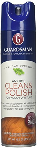 (Guardsman Clean & Polish For Wood Furniture - Woodland Fresh - 12.5 oz - Silicone Free, UV Protection -)