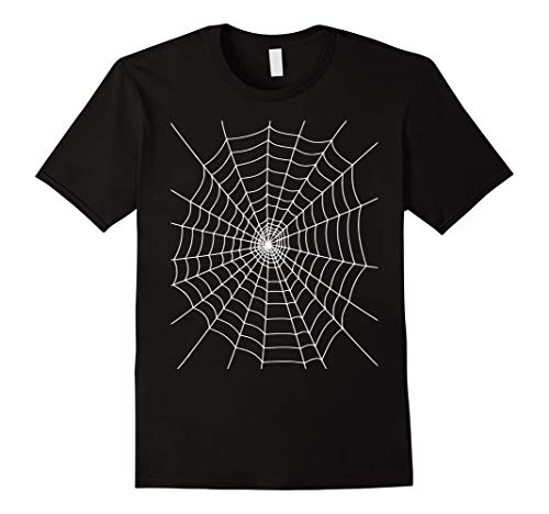Mens Halloween Spider Web Costume T Shirt Medium