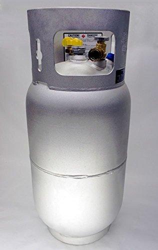 - Manchester Aluminum Propane Tank 33.5 Lb 8 Gallon Forklift Fork Horizontal Vertical New Lpg