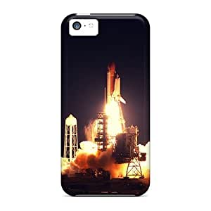 Durable Protector Case Cover With Shuttle Launch Hot Design For Iphone 5c by Maris's Diary