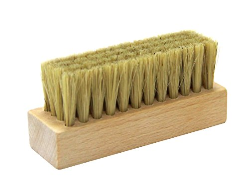 Wood handle with pig Bristle shoe brushes (Natural)