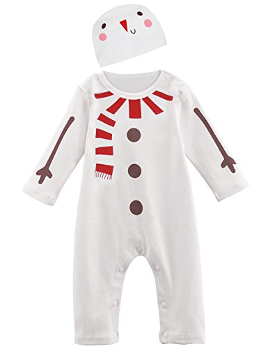 Mombebe Baby Snowman Costume Romper with Hats (0-6 Months, Snowman) for $<!--$12.80-->