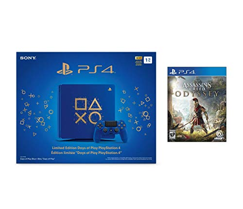 Playstation 4 Assassin's Creed Odyssey Days of Play Bundle: Assassin's Creed Odyssey Game and Limited Edition Days of Play Playstation 4 Slim 1 TB Console